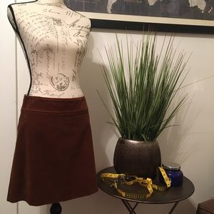 ❄️J. Crew ~ Brown Corduroy A-Line Skirt